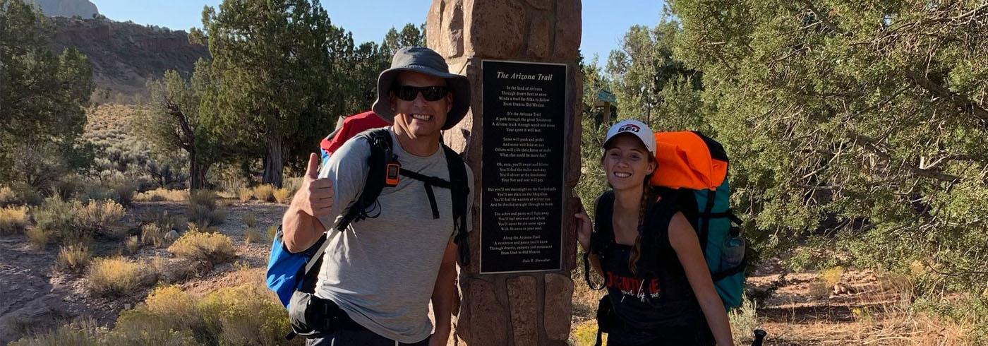 Pastor Luke Barnett and daughter